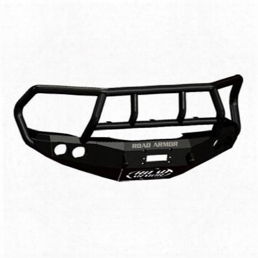 2010 Dodge Ram 3500 Road Armor Front Stealth Winch Bumper Titan Ii Round Light Port In Satin Black