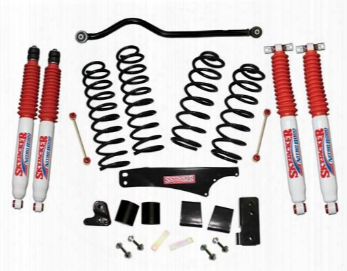 2010 Jeep Wrangler (jk) Skyjacker 3.5 Inch Softride Lift Kit With Nitro 8000 Shocks