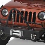 2010 Jeep Wrangler (jk) Warrior Stubby Winch Bumper With Stinger Brush Guard And D-ring Mounts