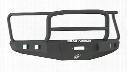 2008 DODGE RAM 1500 Road Armor Front Stealth Non-Winch Illuminator Bumper Lonestar Square Light Port in Satin Black