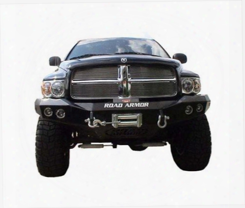 2003 Dodge Ram 3500 Road Armor Front Stealth Winch Bumper Round Light Port In Satin Black