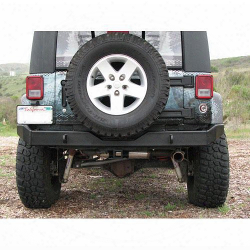 2010 Jeep Wrangler (jk) Garvin Industries G2 Series Rear Bumper With D-ring Mounts In Black Powder Coat
