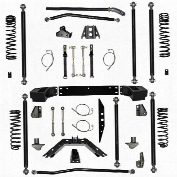 "2010 Jeep Wrangler (jk) Rock Krawler 4.5"" Off-road Pro Long Arm System With 3"" Rear Stretch"