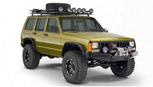 Bushwacker Jeep Xj Cherokee Fender Flare Set 10922-07 - Flat Style