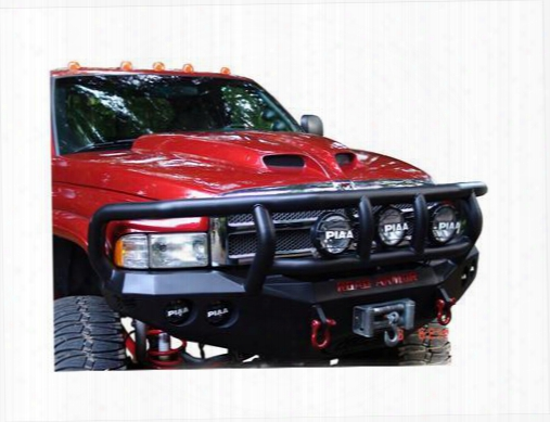 2002 Dodge Ram 2500 Road Armor Front Stealth Winch Bumper Titan Ii Round Light Port In Satin Black