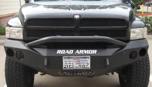 2008 Dodge Ram 1500 Road Armor Front Stealth Winch Bumper Pre-runner Round Light Port In Satin Black
