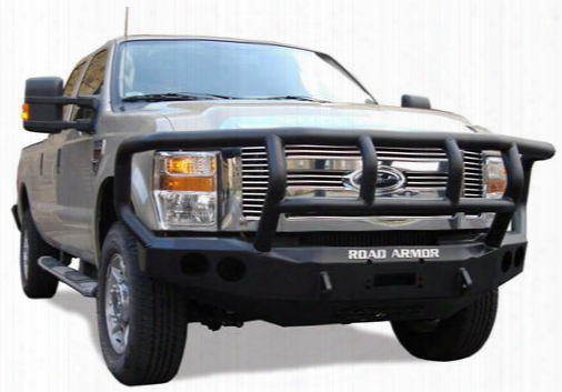 2008 Dodge Ram 1500 Road Armor Front Stealth Winch Bumper Titan Ii Round Light Port In Satin Black