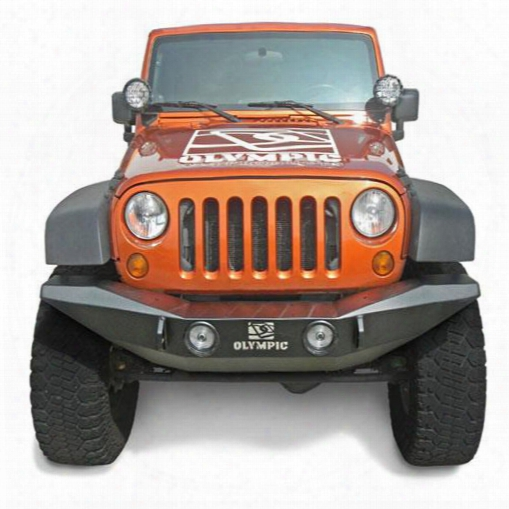 2010 Jeep Wrangler (jk) Olympic 4x4 Products Phoenix Front Bumper In Gloss Black