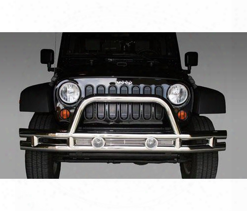 2010 Jeep Wrangler (jk) Rugged Ridge Stainless Steel Front Tube Bumper