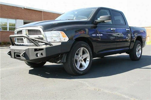 2011 Dodge 1500 Fab Fours Pre-runner Heavy Duty Winch Bumper In Black Powder Coat With Lights And D-rig Mounts