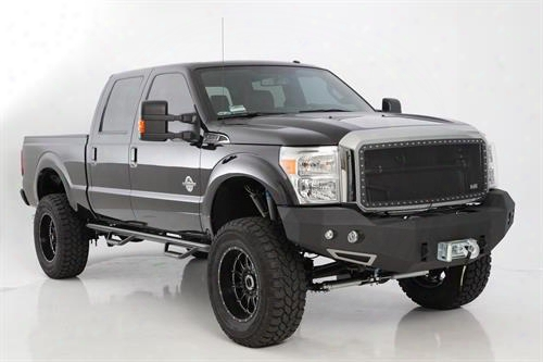 2014 Chevrolet Silverado 1500 Smittybilt M1 Chevy 1500 Truck Winch Mount Front Bumper With D-ring Mounts And Light Kit