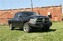 2011 DODGE 1500 Fab Fours Heavy Duty Winch Bumper in Black Powder Coat with Lights and D-ring Mounts