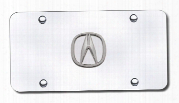 3d Chrome Acura Logo Stainless Steel License Plate