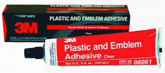 3m Clear Plastic And Emblem Adhesive 5 Oz