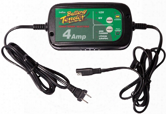 6v & 12v Switchable Battery Tender Battery Charger 4 Amps
