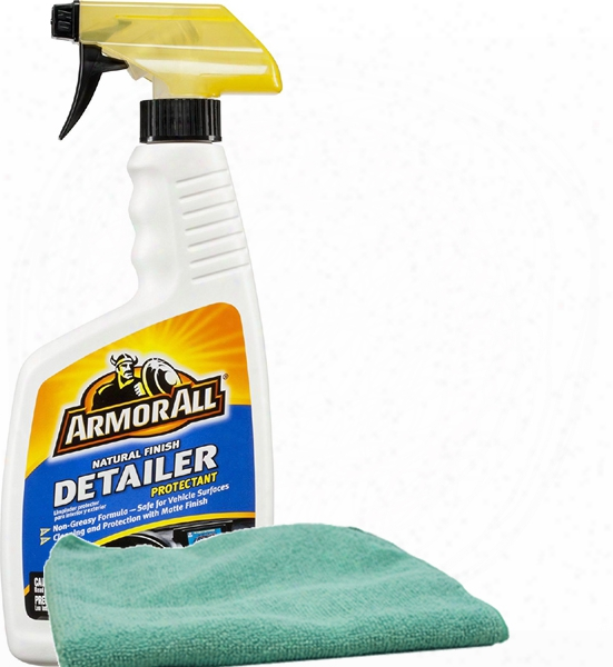 Armor All Natural Finish Detailer Protectant 16 Oz. & Microfiber Cloth Kit