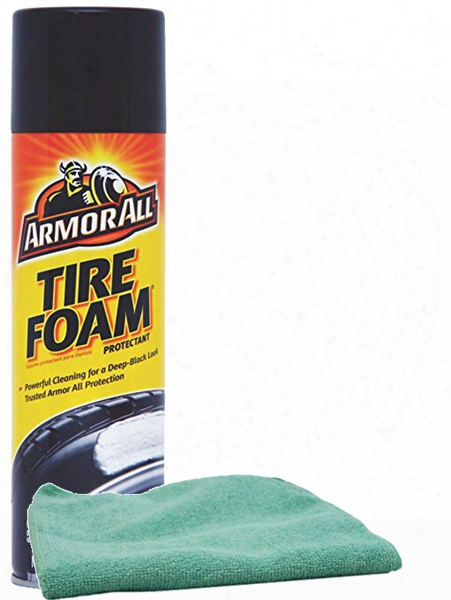Armor All Tire Foam Protectant 20 Oz. & Microfiber Cloth Kit