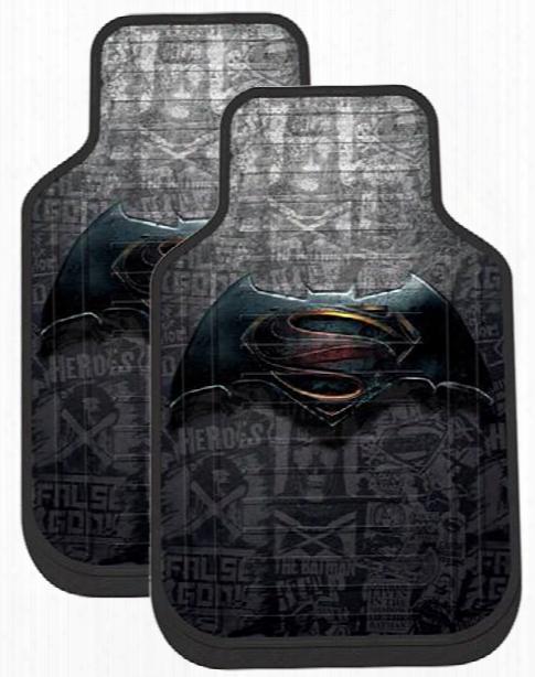 Batman Vs Superman Rubber Floor Mats Pair