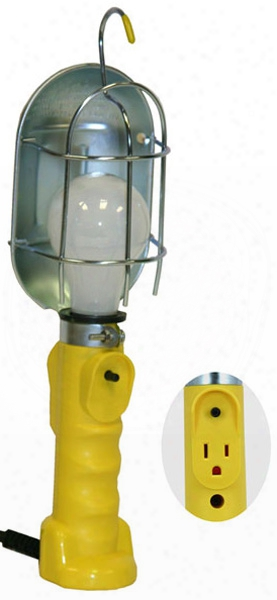 Bayco Metal Shield Incandescent Utility Light W/tool Tap 25 Ft. Cord