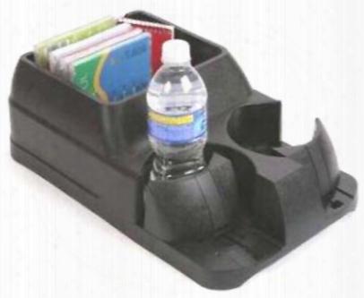 Black Adjustable Drink Holder & Console