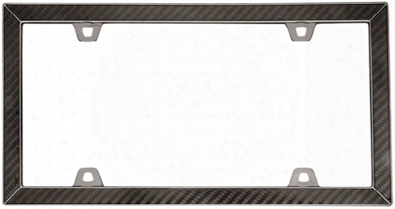 Black Chrome Carbon Fiber Ii License Plate Frame