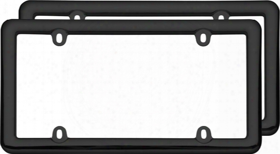 Black Nouveau License Plate Frames Pair