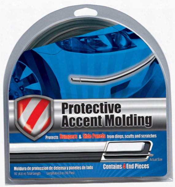 "Black/chrome Protective Accent Molding 1-1/8"" Wide"