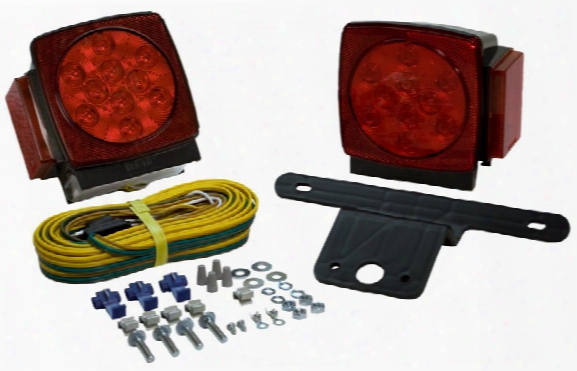 Blazer Square Submersible Led Trailer Light Kit Pair