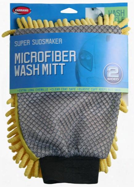 Carrand Microfiber Chenille 2 Sided Scrubbing Mitt