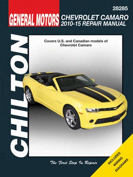 Chevy Camaro Chilton Repair Manual 2010-2015