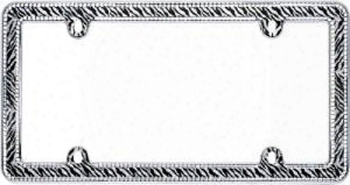 Chrome Plated Clear Zebra Bling License Plate Frame