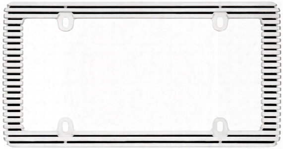 Chrome/black Billet License Plate Frame