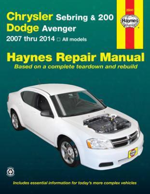 Chrysler Sebring 200 & Dodge Avenger Haynes Repair Manual 2007-2014