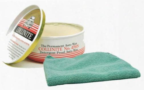 Collinite 476s Double-coat Paste Wax 9 Oz. & Microfiber Cloth Kit