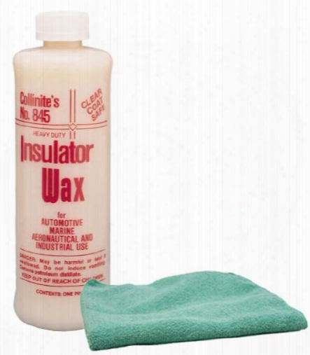 Collinite 845 Insulator Wax 16 Oz. & Microfiber Cloth Kit