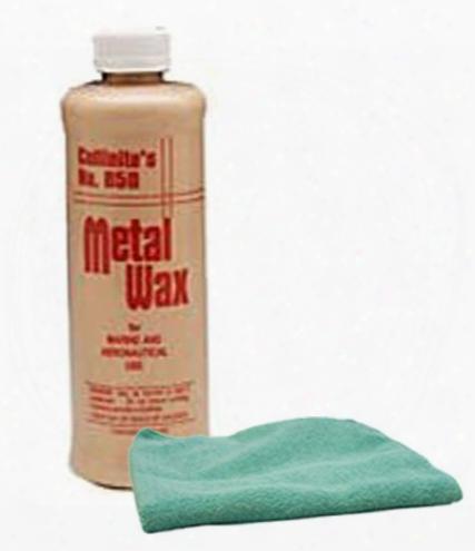 Collinite 850 Metal Wax 1 Pint & Microfiber Cloth Kit