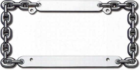 Cruiser Chrome Chain I Liense Plate Frame