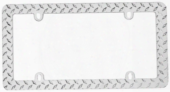 Cruiser Diamond Plate Chrome License Plate Frame