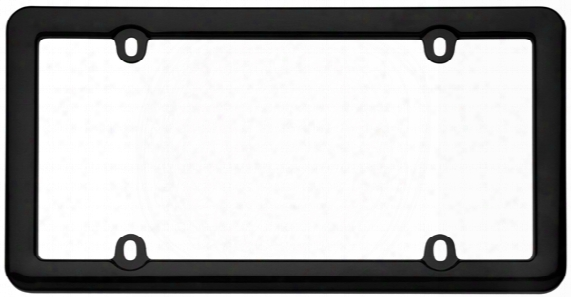 Cruiser Nouveau Black Plastic License Plate Frame