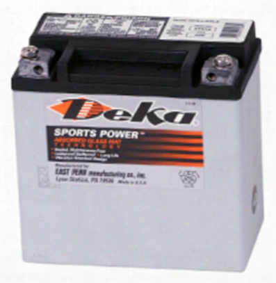 Deka Etx14 Agm Power Sport Battery 220 Cca