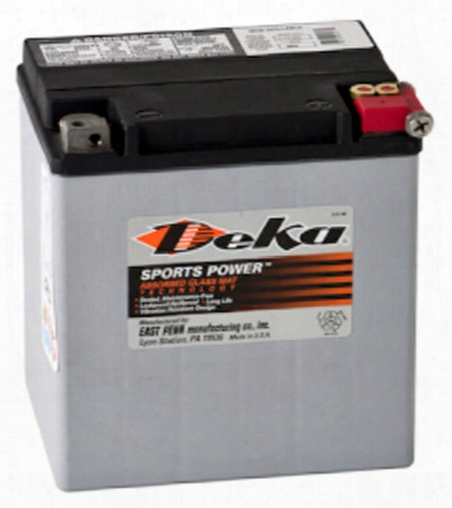 Deka Etx30la Agm Power Sport Battery 400 Cca