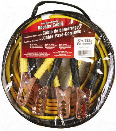 Deka Medium Service 12 Ft. 8 Gauge Jumper Cables