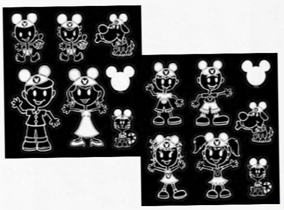 Disney Mickey Mouse Ears Family Vinyl Decal Set