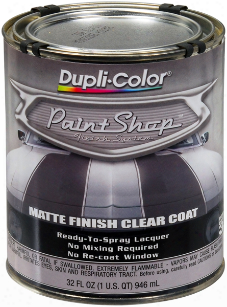Dupli-color Paint Shop Clear Coat Matte Finish 32 Oz.