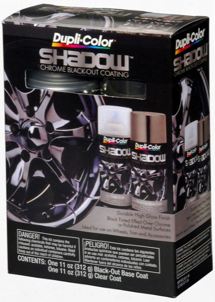 Duplicolor Shadow Chrome Black-out Paint Kit 11 Oz.