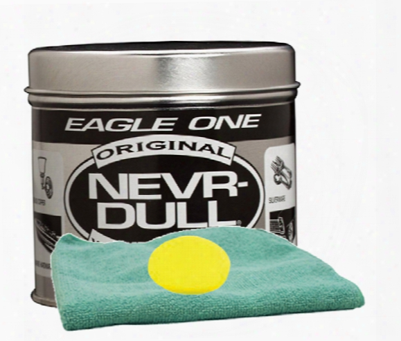 Eagle One Never-dull Wadding Metal Polish 5 Oz. Microfiber Cloth & Foam Pad Kit