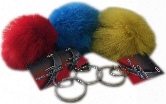 Furry Pom Poms Key Chain