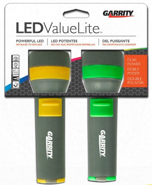Garrity 2d Value Lite Led Flashlights Twin Pack
