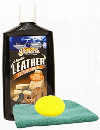 Gliptone Leather Conditioner 8 Oz. Microfiber Cloth & Foam Pad Kit