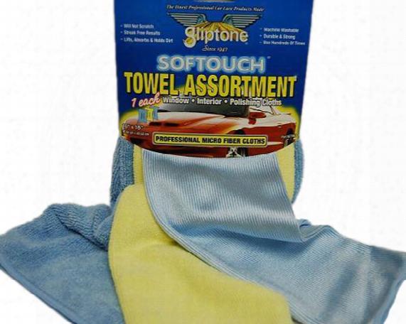 Gliptone Microfiber Towel Assortment 3-pack